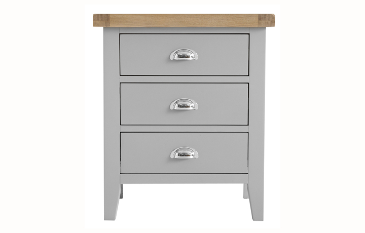 Regency Grey Painted Collection - Regency Grey Painted Extra Large Bedside