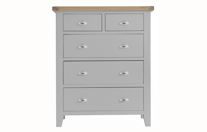 Chest Of Drawers -  Regency Grey Painted Jumbo 2 over 3 Chest