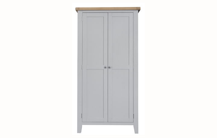 Wardrobes - Regency Grey Painted Full Hanging Wardrobe