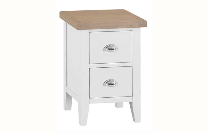 Bedsides - Regency White Painted 2 Drawer Small Bedside