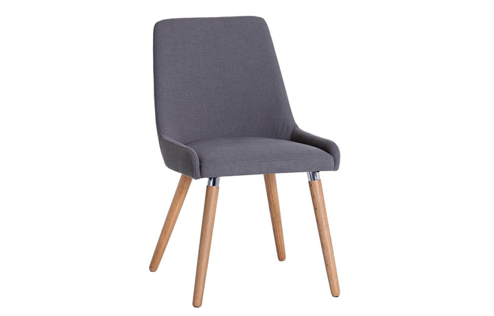 Odense Oak Furniture Collection - Odense Grey Fabric Chair