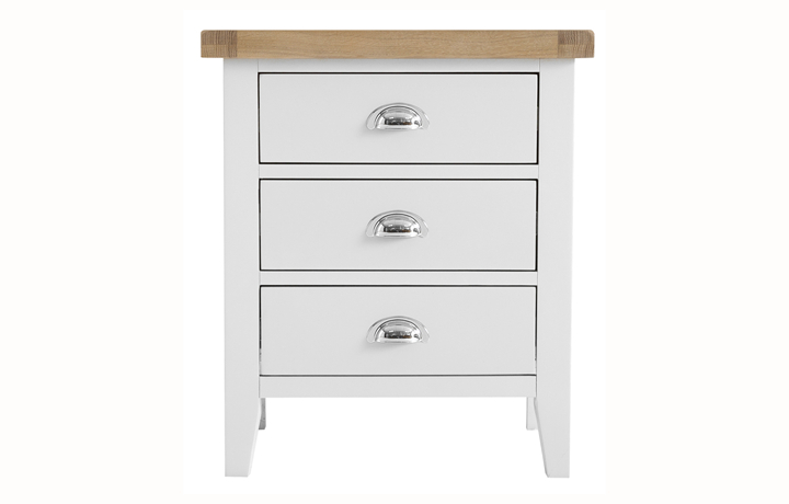 Regency White Painted Collection - Regency White Painted Extra Large Bedside