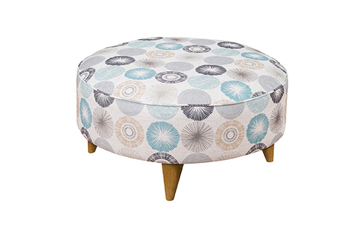 Keswick Collection - Keswick Fabric Round Footstool