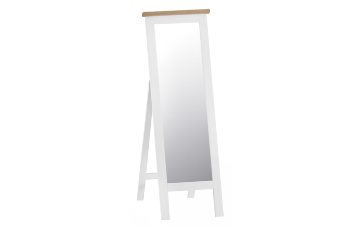 Regency White Painted Collection - Regency White Painted Cheval Mirror