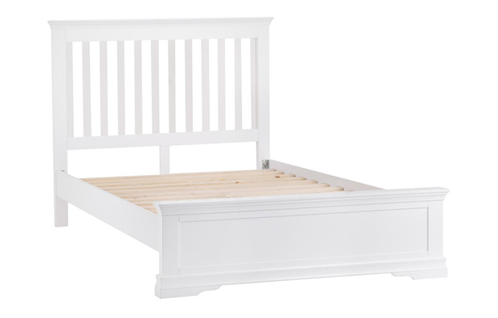 Bed Frames - 5ft Salthouse White Painted King Size Bed Frame