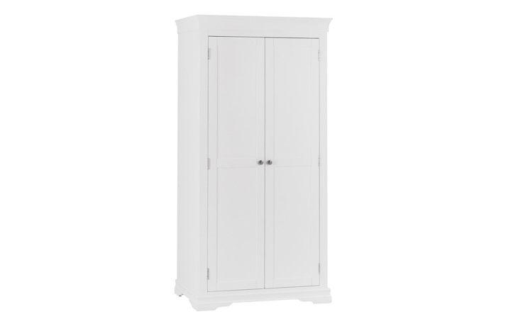 Wardrobes - Salthouse White Painted 2 Door Full Hanging Wardrobe