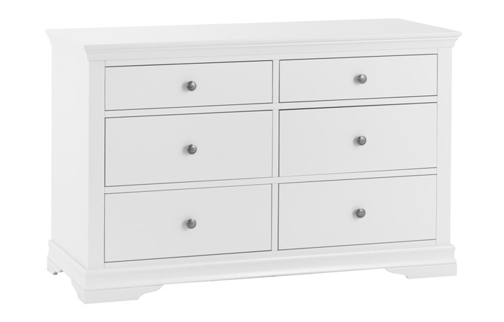 Chest Of Drawers - Salthouse White Painted 6 Drawer Chest