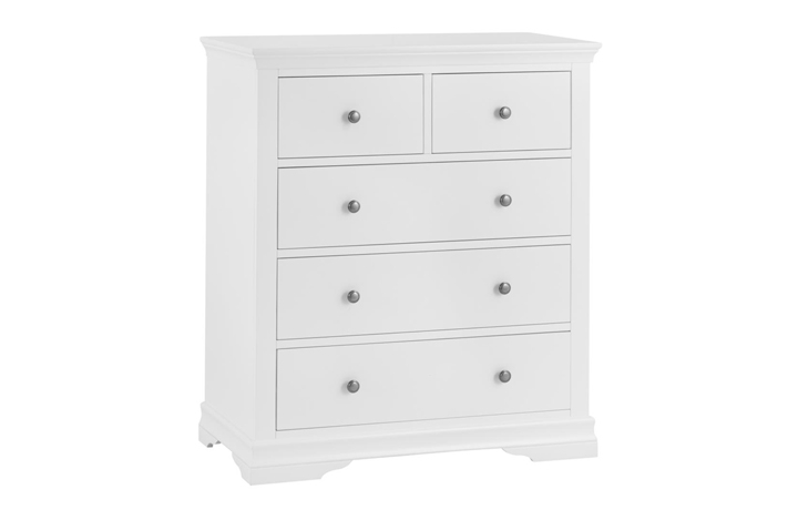 Chest Of Drawers - Salthouse White Painted 2 Over 3 Chest Of Drawers