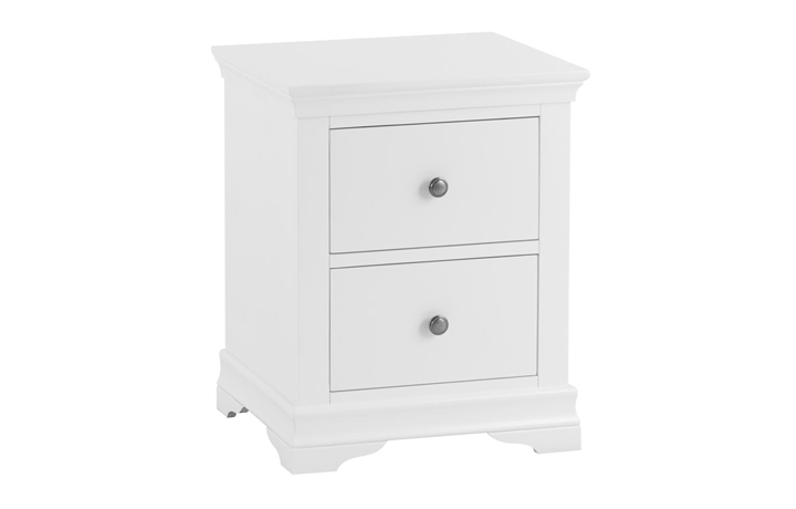 Bedsides - Salthouse White Painted Large 3 Drawer Bedside