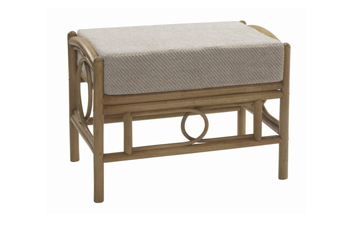 Madrid Cane Range - Madrid Footstool Light Oak