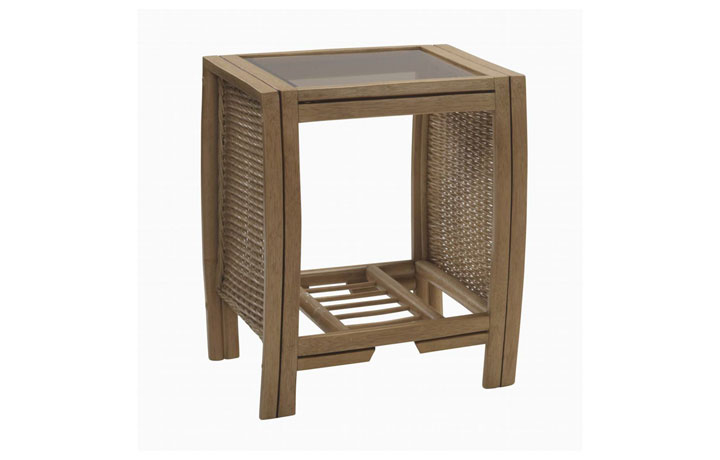 Manila Rattan Range - Manila Side Table Light Oak