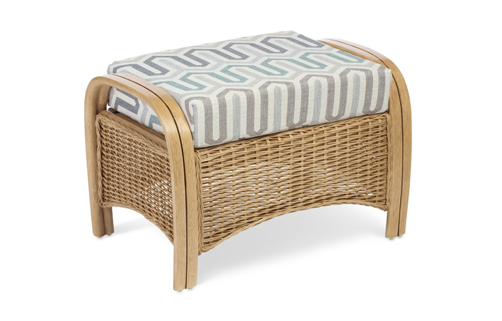 Manila Rattan Range - Manila Footstool Light Oak