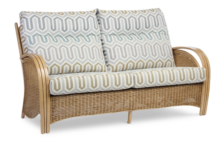 Manila Rattan Range - Manila 3 Seat Sofa Light Oak