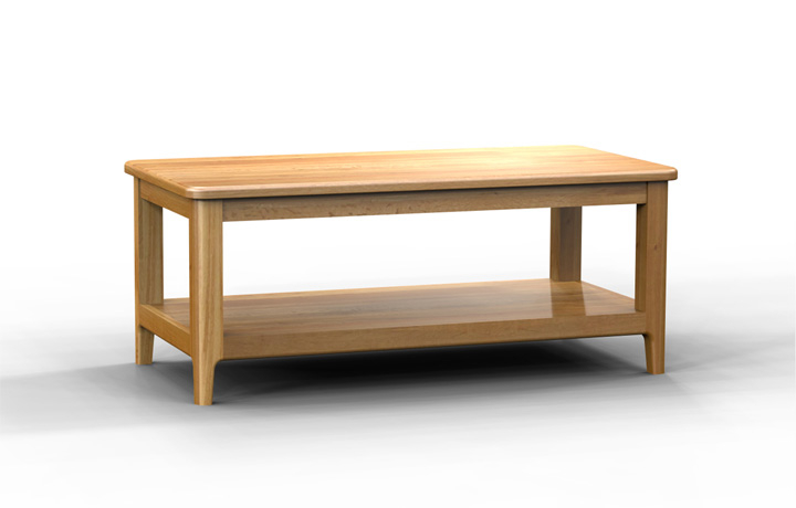 Oak Coffee Tables - Bergen Oak Coffee Table