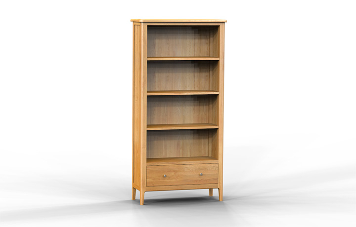 Bookcases - Bergen Oak Large Bookcase