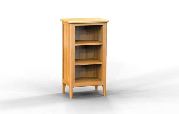 bookcases - Bergen Oak Small Bookcase/DVD Rack