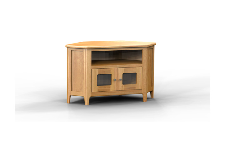 TV Cabinets - Bergen Oak Glazed TV Cabinet