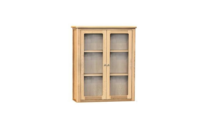 Dressers - Bergen Oak 2 Door Buffet Hutch