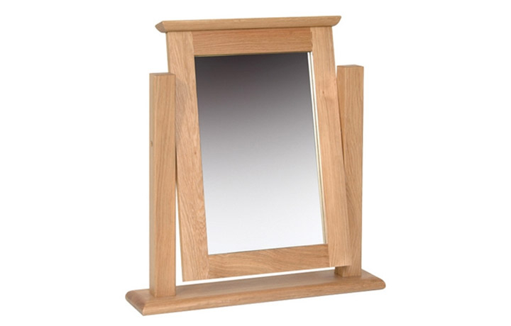 Woodford Solid Oak Collection - Woodford Solid Oak Single Dressing Table Mirror