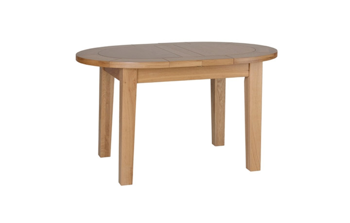 Dining Tables - Woodford Solid Oak Small D End Flip Top Extending Table