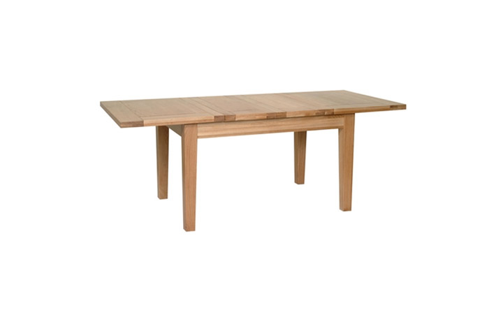 Dining Tables - Woodford Solid Oak 132-198cm Extending Table (Twin Leaf)