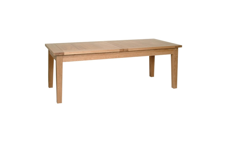 Dining Tables - Woodford Solid Oak 205-275cm Extending Table (Twin Leaf)