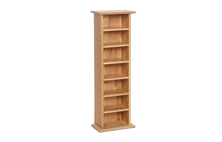Bookcases - Woodford Oak CD Rack