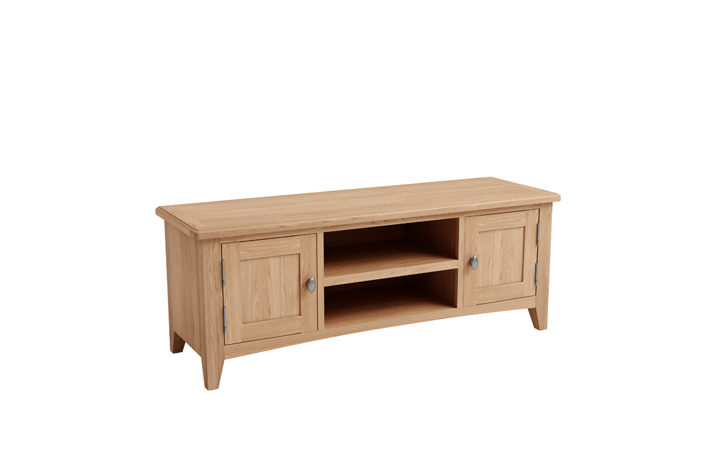 TV Cabinets - Columbus Oak Large TV Unit