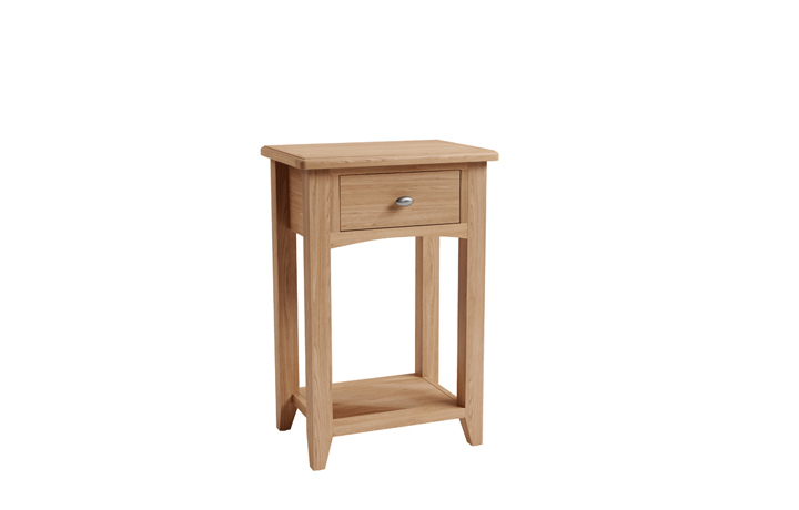 Consoles - Columbus Oak 1 Drawer Console Table