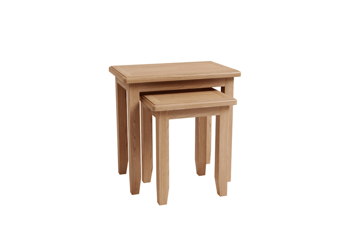 Nested Tables - Columbus Oak Nest of 2 Tables