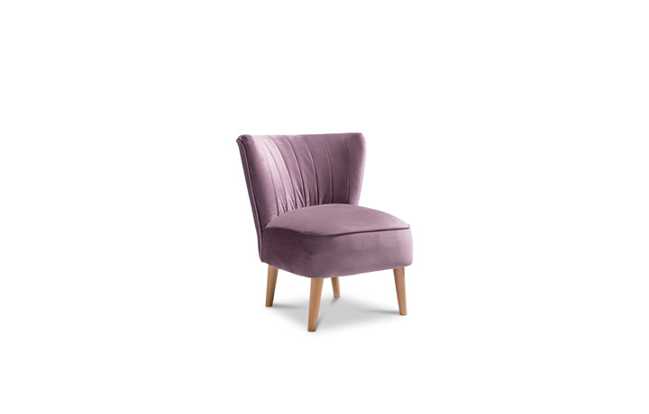 Accent Chairs & Stools - Margate Accent Chair Plush Velvet Fabric - Lilac