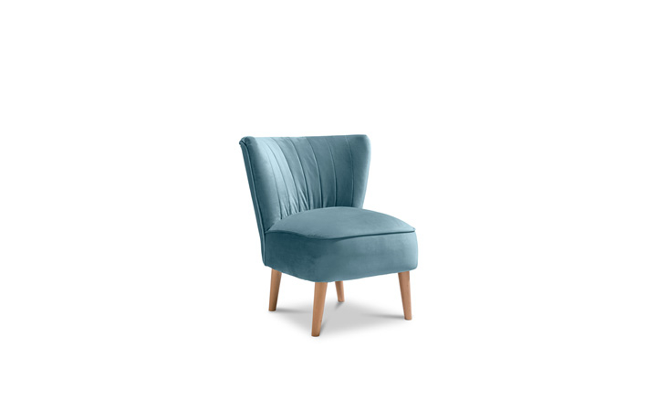 Accent Chairs & Stools - Margate Accent Chair Plush Velvet Fabric - Teal