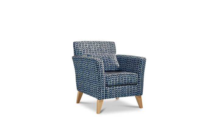 Accent Chairs & Stools - Camden Accent Chair Fabric Indigo Light With Light Legs