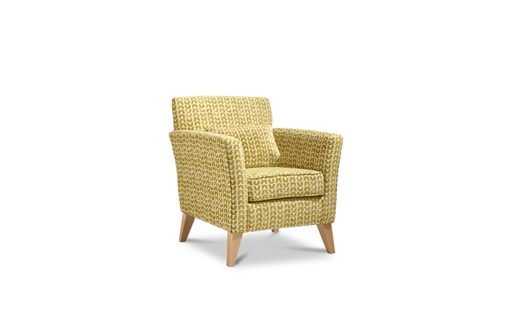 Accent Chairs & Stools - Camden Accent Chair Fabric Ochre With Light Legs