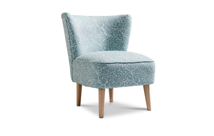 Accent Chairs & Stools - Margate Accent Chair Patterned Fabric - Duck Egg