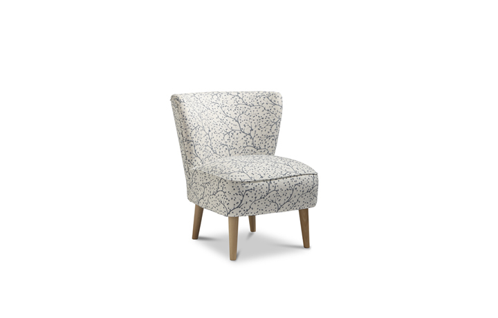 Accent Chairs & Stools - Margate Accent Chair Patterned Fabric - Cornflower