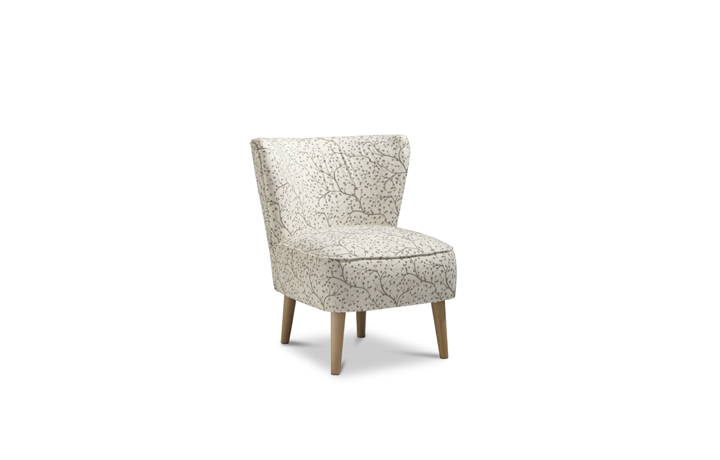 Accent Chairs & Stools - Margate Accent Chair Patterned Fabric - Linen