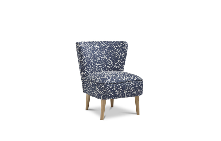 Accent Chairs & Stools - Margate Accent Chair Patterned Fabric - Denim