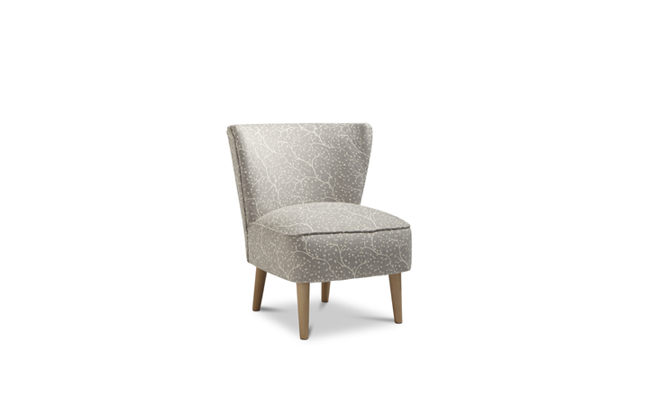 Accent Chairs & Stools - Margate Accent Chair Patterned Fabric - Silver