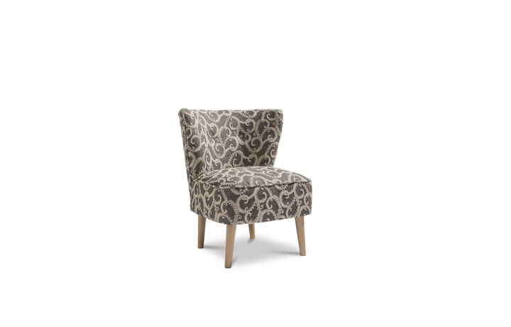 Accent Chairs & Stools - Margate Accent Chair Patterned Fabric - Grey Rich Texture