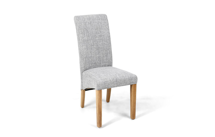 Chairs & Bar Stools - Karta Scroll Back Chair Grey Weave