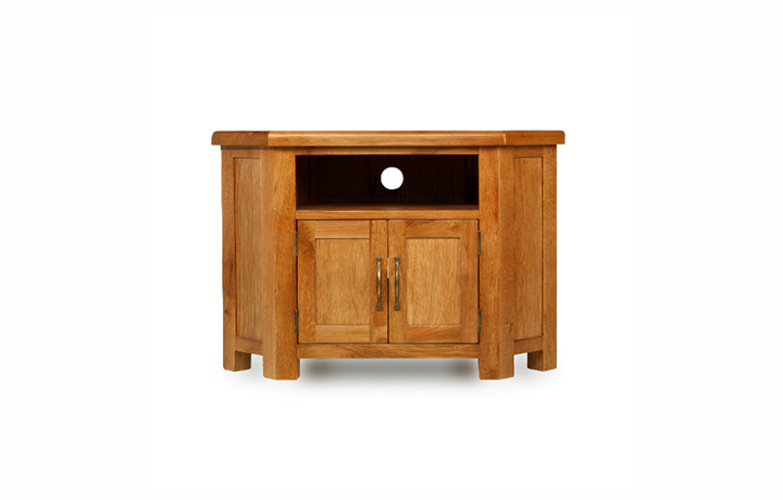 TV Cabinets - Hollywood Oak Petite Corner TV Unit
