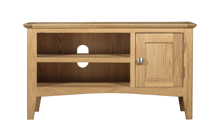 TV Cabinets - Amira Oak Small TV Unit