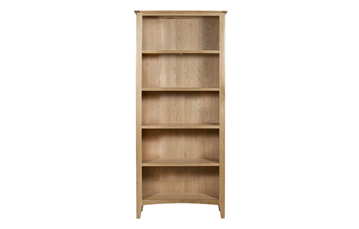 Bookcases - Amira Oak Large Bookcase