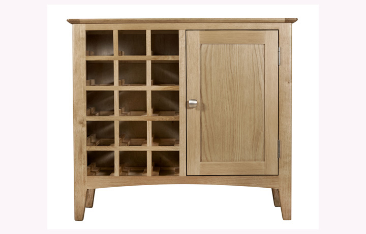 Display Cabinets - Amira Oak Wine Cabinet