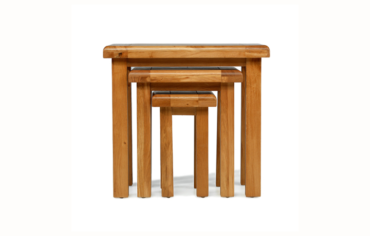 Nested Tables - Hollywood Oak Nest of 3 Tables