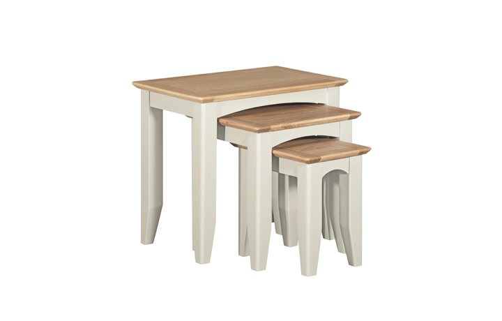 Nested Tables - Amira Painted Nest Of Tables