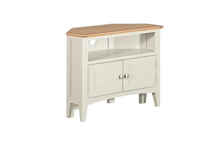 TV Cabinets - Amira Painted Corner TV Unit