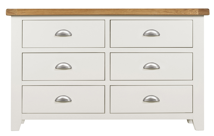 Chest Of Drawers - Eden Ivory Painted 6 Drawer Chest
