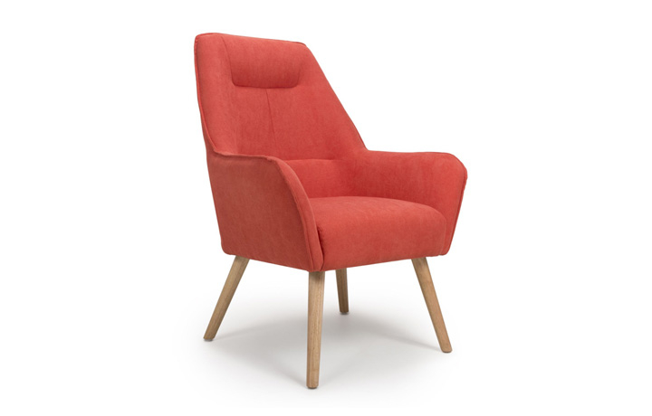 Accent Chairs & Stools - Matrix Brick Orange Accent Chair